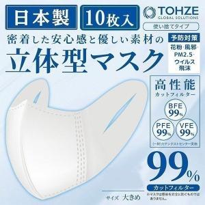 マスク 在庫あり 日本製 使い捨て 10枚 立体型 即納 大人用 男性 女性 男女兼用 不織布 大きめ レギュラー 白 ホワイト 花粉 3層構造 高性能|attention8-25