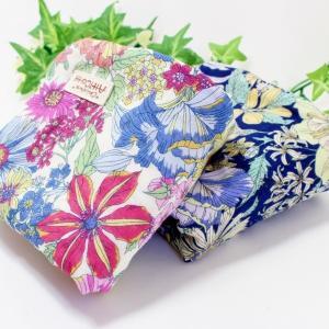ガーゼハンカチ 8重ガーゼ ハンドメイド 大きな花柄 フラワー 花 25cm タオル 大 祝 プレゼント 母の日 L|atticotti