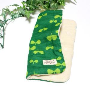 ガーゼハンカチ 8重ガーゼ ハンドメイド 若葉 リーフ 春 新緑 花柄 20cm タオル 祝い プレゼント 母の日 M|atticotti