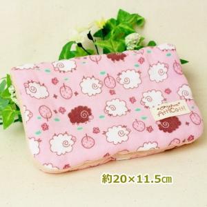 約20×15cm 8重ガーゼハンカチ ハンドメイド ふわふわ ヒツジ 羊 ピンク 動物 タオル プレゼント 使いやすい大きさ 祝 誕生日 母の日 お礼 atticotti