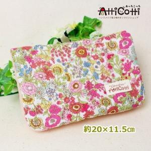 約20×15cm 8重ガーゼハンカチ ハンドメイド リバティ風 フラワースタイル 花 ピンク タオル プレゼント 使いやすい大きさ 祝 誕生日 母の日 お礼|atticotti