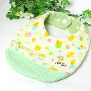 ガーゼスタイ 8重ガーゼ ヒヨコ 鳥 クリーム よだれかけ エプロン まえかけ 赤ちゃん 安心 出産祝い 肌にやさしい 柔らかいスタイ 新生児|atticotti