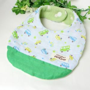 ガーゼスタイ 8重ガーゼ 車 星 カー ブルー よだれかけ まえかけ エプロン 赤ちゃん 安心 出産祝い 肌にやさしい 柔らかいスタイ 新生児|atticotti
