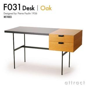 METROCS メトロクス  F031 Desk F031 デスク Oak オーク 天板:ブラック ...