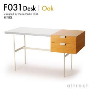 METROCS メトロクス  F031 Desk F031 デスク Oak オーク 天板:ホワイト ...