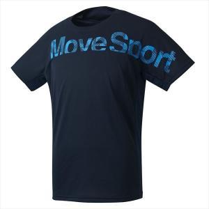 【1点までメール便可】 [DESCENTE]デサント Tシャツ (DMMOJA50)(NV) ネイビー×ターコイズ[取寄商品] auc-aspo