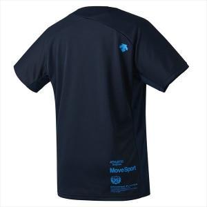 【1点までメール便可】 [DESCENTE]デサント Tシャツ (DMMOJA50)(NV) ネイビー×ターコイズ[取寄商品] auc-aspo 02