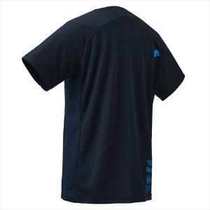 【1点までメール便可】 [DESCENTE]デサント Tシャツ (DMMOJA50)(NV) ネイビー×ターコイズ[取寄商品] auc-aspo 04