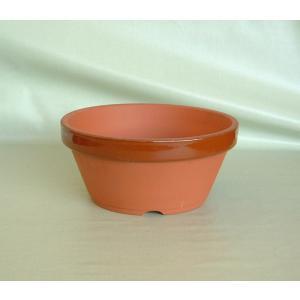 駄温鉢〈駄鉢〉 浅型 6号 陶器鉢 *国産植木鉢* 常滑焼 素焼き鉢 和風 浅鉢 陶器鉢 テラコッタ...