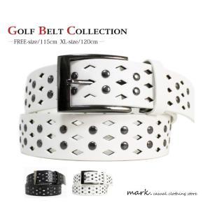 ダイヤホールデザインSTUDSベルト全2色(フリーサイズ 長さ切断可能)ゴルフに人気!!|auc-mark