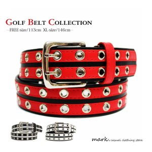 Wライン切り替えハトメホールベルト全3色(フリーサイズ 長さ切断可能)ゴルフに人気!!|auc-mark