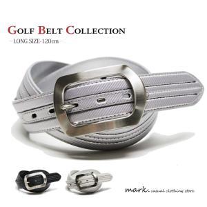 BIG BACKLE CARBON DESIGN STITCH BELT 大きいサイズ対応 ビッグバックル カーボンデザイン ステッチベルト ベルト ゴルフ メンズ レディース 合皮 PUレザー|auc-mark