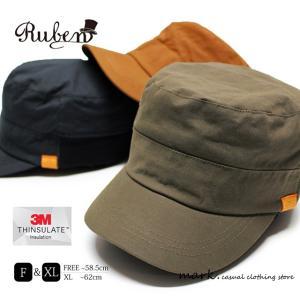RUBEN /ルーベン 大きいサイズ対応 THINSULATE NYLON CAP シンサレート ナイロン ワークキャップ メンズ レディース 帽子 キャップ カジュアル アウトドア ゴル|auc-mark