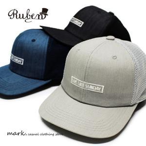 RUBEN  ルーベン SUNDAY FLAT MESH CAP BBキャップ メッシュキャップ メンズ レディース キャップ 帽子 ベースボールキャップ ストレートキャップ フラットバイ|auc-mark