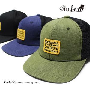 RUBEN /ルーベン NY FLAT MESH CAP BBキャップ メッシュキャップ メンズ レディース キャップ 帽子 ベースボールキャップ フラットバイザー ゴルフ カジュアル|auc-mark