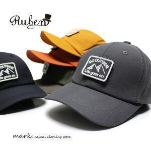 RUBEN /ルーベン GO OUT CAP ワッペン ローキャップ ナイロン BBキャップ メンズ レディース 帽子 キャップ アウトドア カジュアル ゴルフ トレッキング 釣り|auc-mark