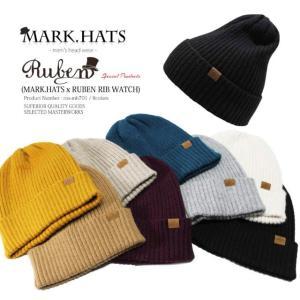 RUBEN & MARK.HATS /ルーベン & マークハット PREMIUM RIB WATCH プレミアム リブワッチ 2WAY ニットキャップ ワッチキャップ メンズ レディース ニット 帽子 auc-mark