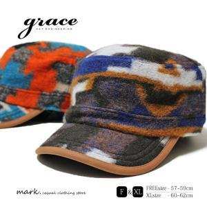 grace/グレース WORK CAP LIL カラフルデザイン ワークキャップ 大きいサイズ対応 アジャスター付 フリーサイズ XL メンズ レディース 帽子 キャップ|auc-mark