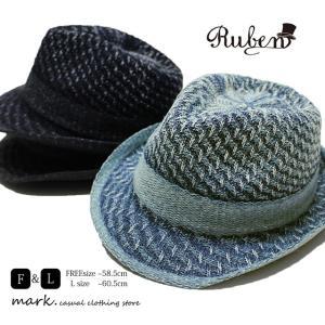 RUBEN / ルーベン 大きいサイズ対応 RUBEN / ルーベン 大きいサイズ対応 INDIGO THERMO HAT サーモハット 中折れハット ゴルフ ハット メンズ レディース|auc-mark