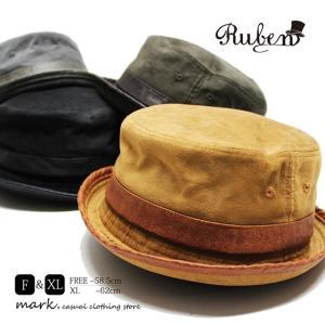 RUBEN /ルーベン 大きいサイズ対応 FAKE SUEDE PORKPIE HAT フェイクスエード ポークパイハット  メンズ レディース ハット HAT 帽子 フリーサイズ 大きい ビッ|auc-mark
