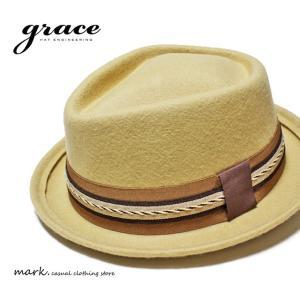 グレース/grace RAY HAT BIRD ウール 中折れ ハット レイハット フェルトハット 短つば フリーサイズ メンズ レディース 帽子|auc-mark