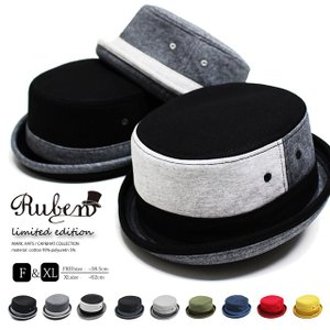RUBEN/ルーベン SWEAT PORK PIE HAT 大きいサイズ対応 スウェット ポークパイハット メンズ レディース 帽子 XL サイズ調節付|auc-mark