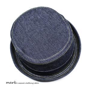 RUBEN/ルーベン DENIM PORK PIE HAT デニム ポークパイハットメンズ レディース 帽子 サイズ調節付/XL|auc-mark|11
