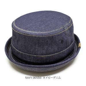 RUBEN/ルーベン DENIM PORK PIE HAT デニム ポークパイハットメンズ レディース 帽子 サイズ調節付/XL|auc-mark|06