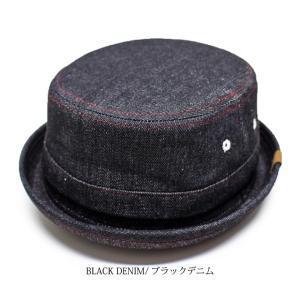 RUBEN/ルーベン DENIM PORK PIE HAT デニム ポークパイハットメンズ レディース 帽子 サイズ調節付/XL|auc-mark|07