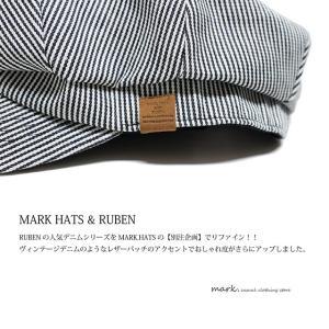 RUBEN/ルーベン DENIM BIG CAS デニムビッグキャス 2WAY ビッグキャスケット キャスハンチング メンズ レディース 帽子 サイズ調節付|auc-mark|09