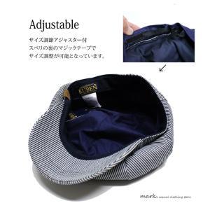 RUBEN/ルーベン DENIM BIG CAS デニムビッグキャス 2WAY ビッグキャスケット キャスハンチング メンズ レディース 帽子 サイズ調節付|auc-mark|10