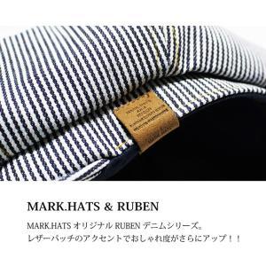 RUBEN/ルーベン DENIM CASKET デニムキャスケット大きいサイズ対応 2WAY キャスハンチング メンズ レディース 帽子 XL サイズ調節付 auc-mark 03