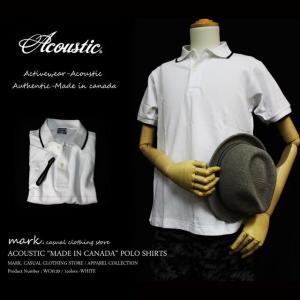 Acoustic/アコースティック カナダ製 復刻 鹿の子ポロシャツ 高品質!!アメカジ ゴルフスタイルS M Lサイズ ★特別価格★|auc-mark