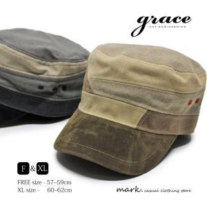 grace / グレース ALTERNATE WK CAP 大きいサイズ対応 切替え パッチ ワークキャップ メンズ レディース キャップ 帽子 ゴルフ カジュアル FREE フリーサイズ XL|auc-mark