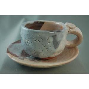 ako-13 志野焼  コーヒーカップ &ソーサー 送料無料 ギフト、還暦祝い、定年、退職祝い、結婚祝い、誕生日、贈り物に♪|auctogei