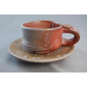 ako-8 焼締コーヒーカップ&ソーサー 送料無料 ギフト、還暦祝い、定年、退職祝い、結婚祝い、誕生日、クリスマスプレゼント|auctogei