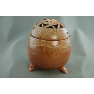 陶芸作家 荒川明作『焼締  香炉』(bk-1)木箱付き還暦祝い贈り物!【送料無料】ギフト、還暦祝い、定年、退職祝い、結婚祝い、誕生日、|auctogei