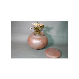 D-2-1   輝光窯変 大丸 2変化  花器 付き 骨壷 7号|auctogei
