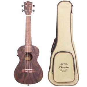 Bamboo Ukulele - Bocote ウクレレ BU-23BOC (ピックアップ・ソフトケース付属) 【国内正規品】【メーカー在庫有り即納】|audio-ippinkan