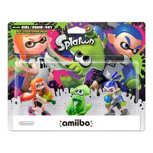 Nintendo amiibo アミーボ  スプラトゥーンシリーズ Inkling 全3種セット ガール ボーイ イカ|直輸入品|audio-mania