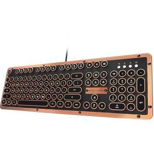 【工場再生品】Azio MK-RETRO-L-03-US レトロクラシックアーティザン - USB高級ヴィンテージバックライトメカニカルキーボード |直輸入品|audio-mania