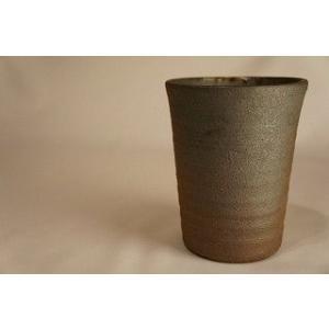 焼〆 ビアカップ カップ 陶磁器 上野焼 天神窯 Agano-yaki Tenjingama ceramic beer cup|audio-mania