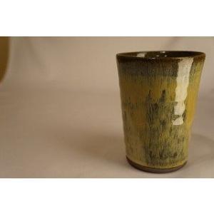 藁灰釉 ビアカップ カップ 上野焼 天神窯 Agano-yaki Tenjingama ceramic beer cup|audio-mania