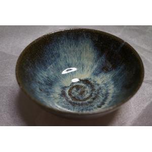 ご飯茶碗 陶磁器 上野焼 Handmade Japanese Agano-yaki Ceramic Bowl Blue Glaze|audio-mania