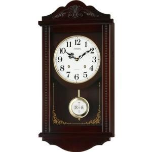 CITIZEN (シチズン) 掛け時計 アタシュマン 木枠 4タイプの時報メロディ切換式 4MJA01-006|新品|audio-mania