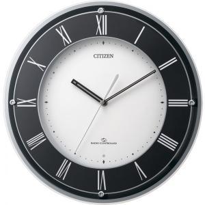 CITIZEN (シチズン) 掛け時計 アナログ スリーウェーブM823 黒 4MY823-002|新品|audio-mania