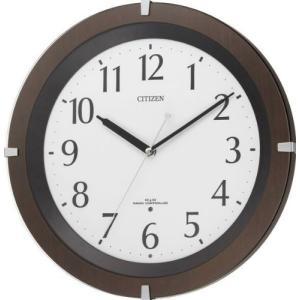 CITIZEN (シチズン) 電波掛け時計 リバライトF460 ブラウン 8MY460-006|新品|audio-mania