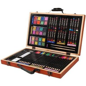 Daris ダリス Studio71 Professional Art Set in Wooden Case 80ピース 画材 セット /|audio-mania