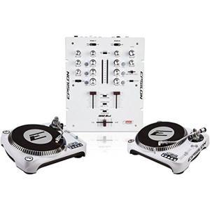 EPSILON INNO-PROPAK DJT-1300 USB White ターンテーブル x2 ミキサー セット 直輸入品 新品 audio-mania