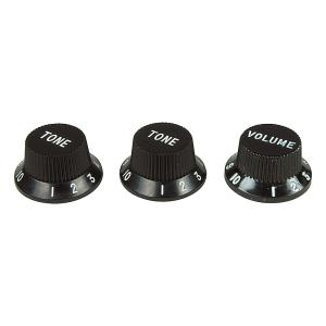 Fender USA 純正パーツ Strat Control Knobs Black 991365000 │直輸入品 audio-mania